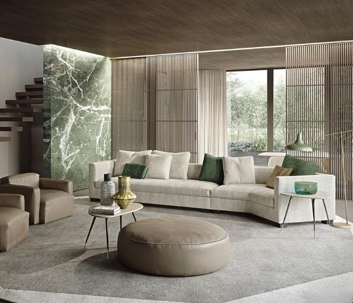 Entdecken Sie bei Conzept Beckord besondere Designmöbel! Hier finden Sie Frigerio Sofas: Tiberio
