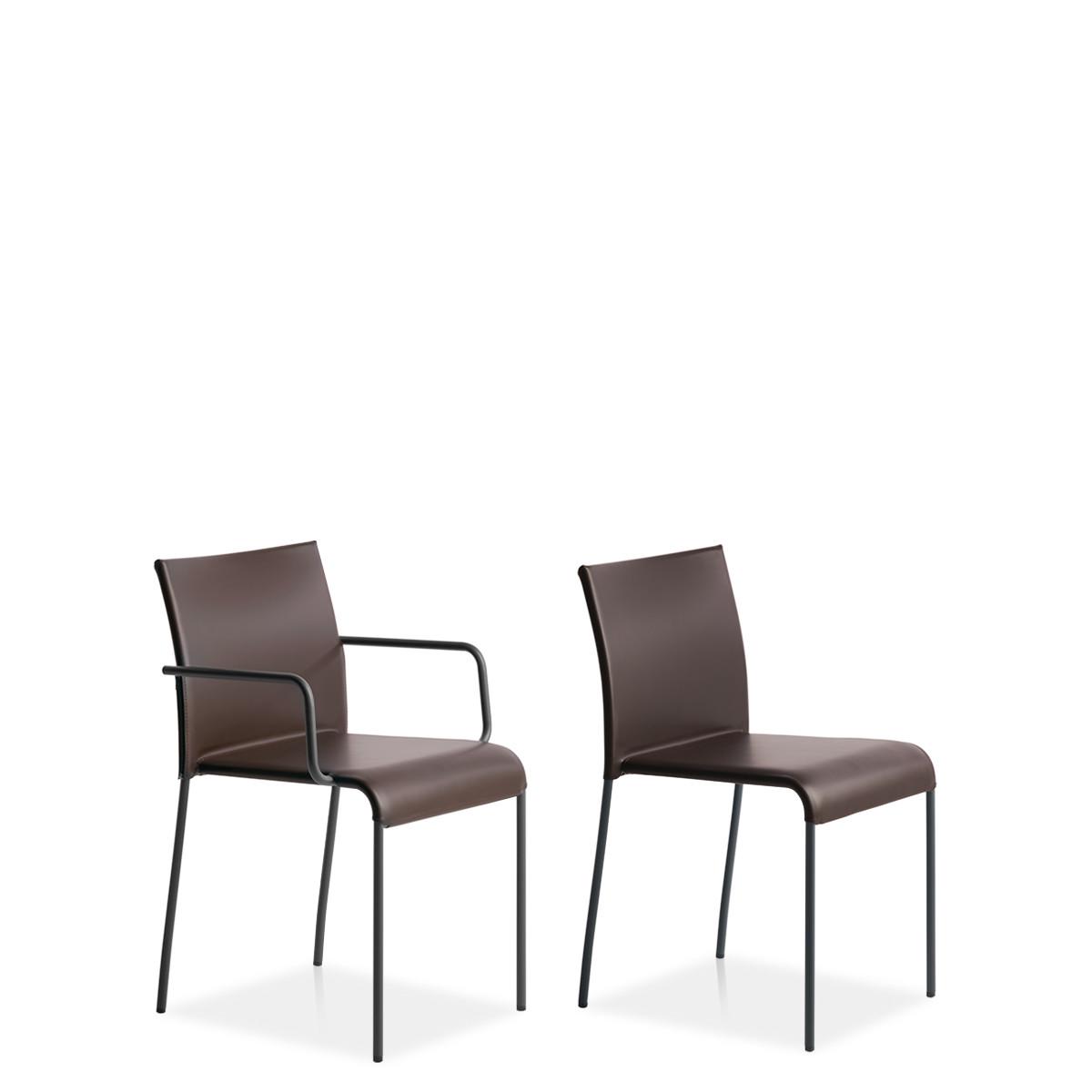 Entdecken Sie bei Conzept Beckord besondere Designmöbel! Hier finden Sie Potocco Stühle: Agra braun